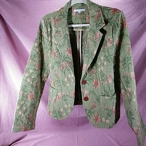 A4* CABI Embroidered- Quilted Blazer, Size 12